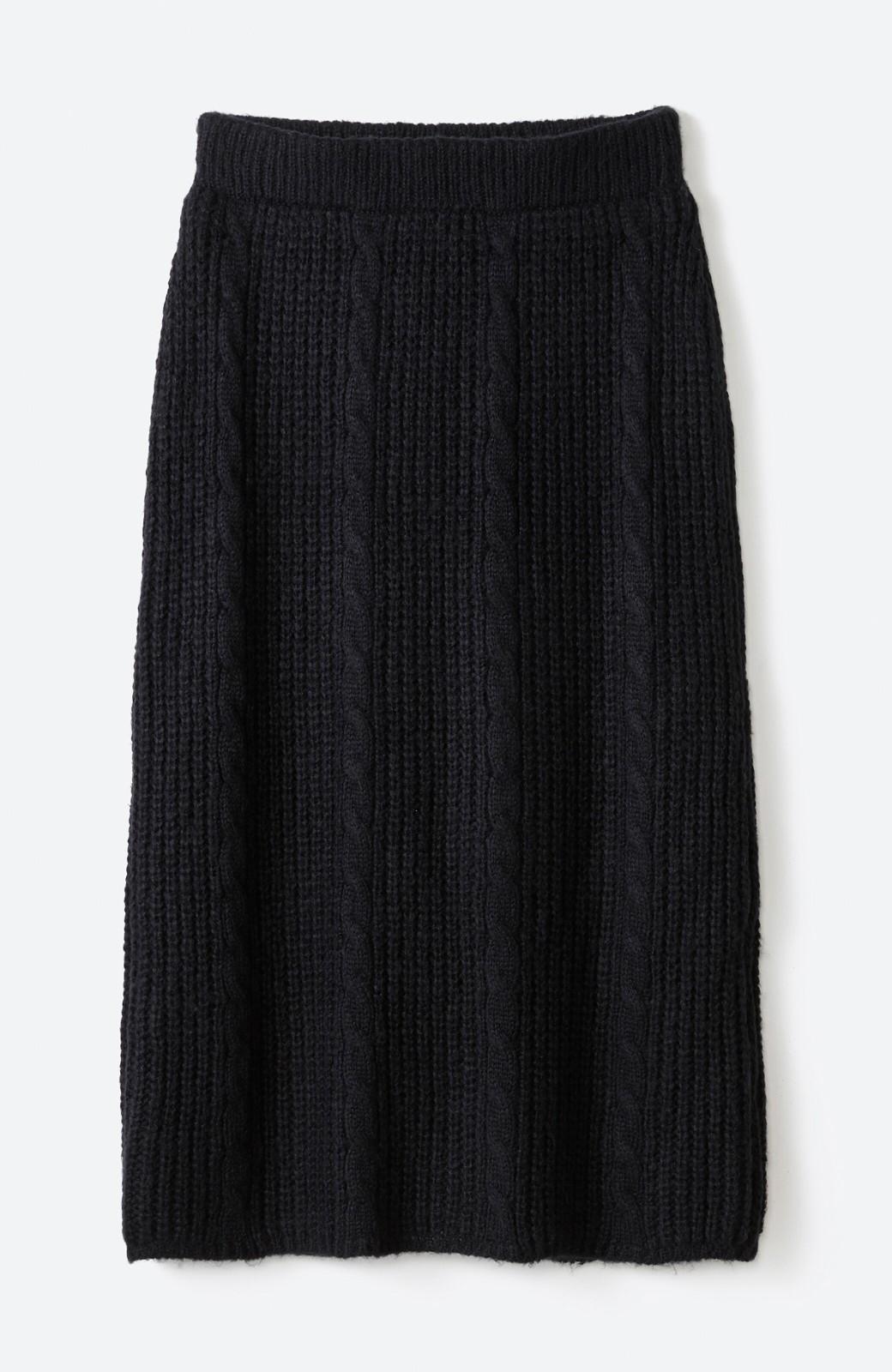 haco! しまった!寝坊した!ってときにも安心なケーブル編みがかわいいニットアップ <ブラック>の商品写真27