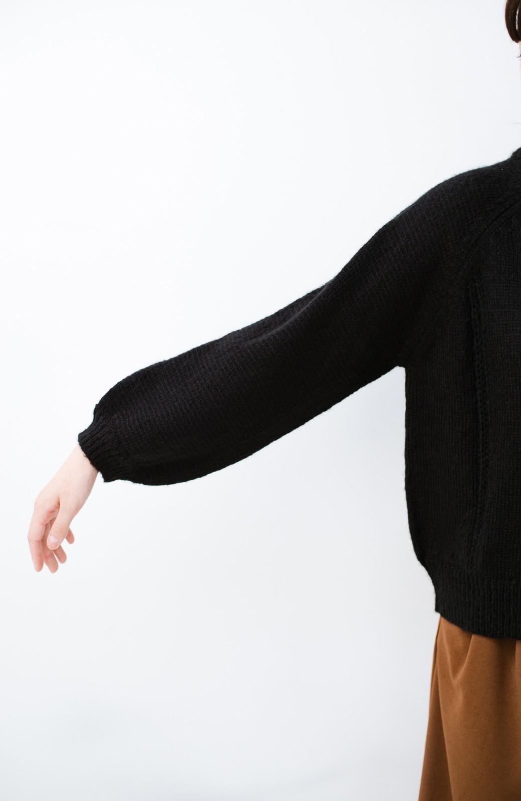 haco! しまった!寝坊した!ってときにも安心なケーブル編みがかわいいニットアップ <ブラック>の商品写真22
