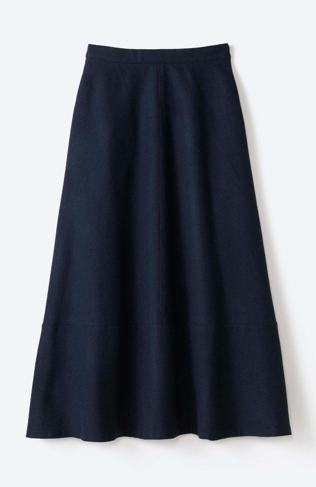 haco! ウール混であったか&大人っぽ!フレアーロングスカート <ネイビー>の商品写真15