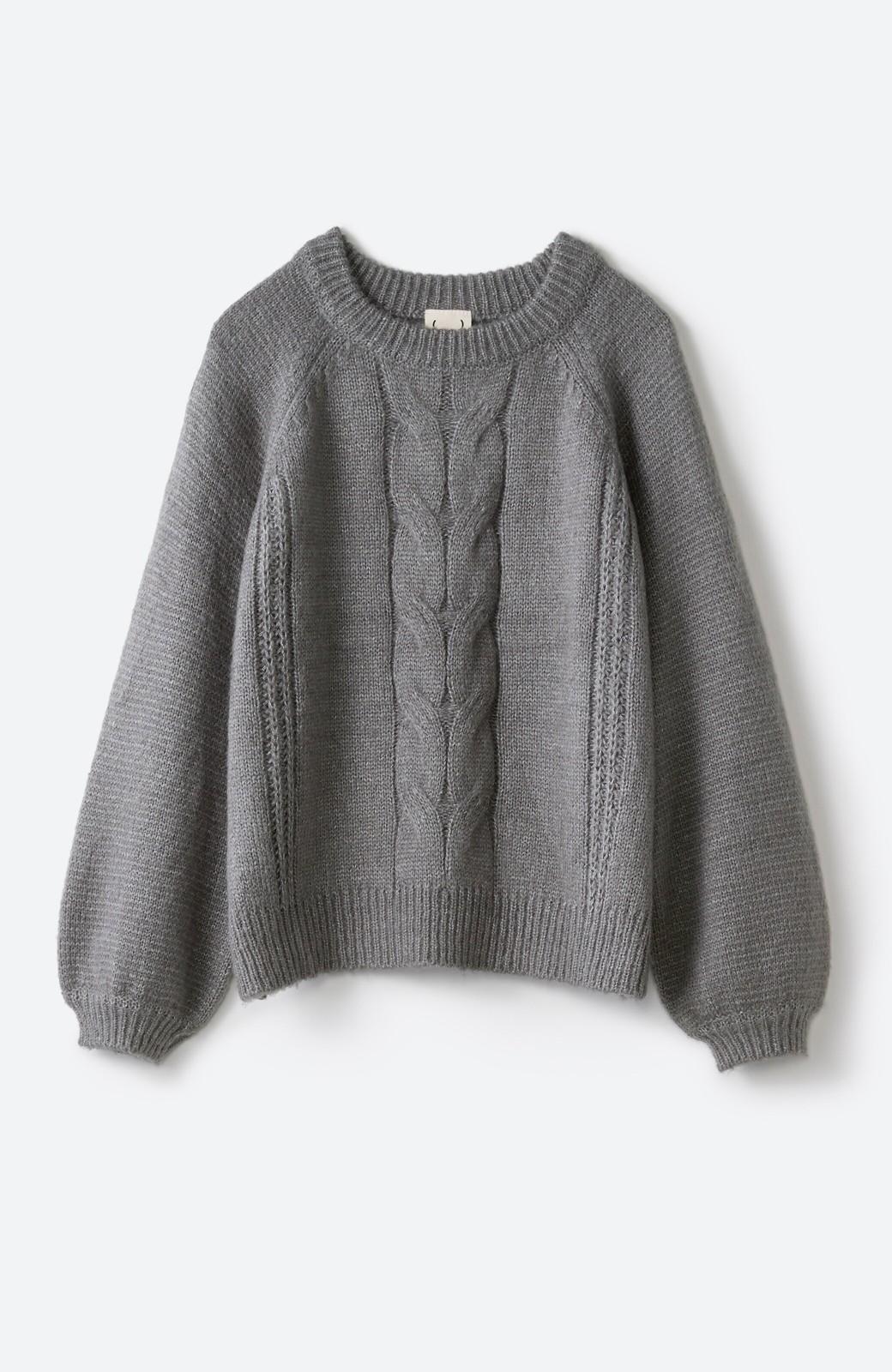 haco! しまった!寝坊した!ってときにも安心なケーブル編みがかわいいニットアップ <グレー>の商品写真34
