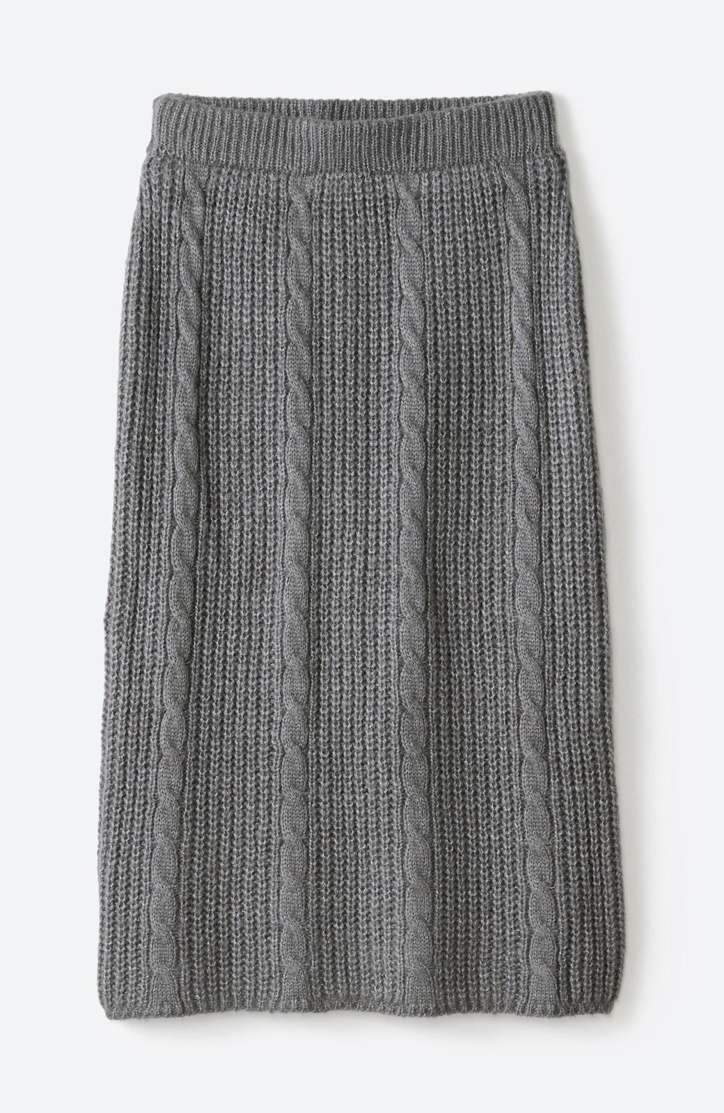 haco! しまった!寝坊した!ってときにも安心なケーブル編みがかわいいニットアップ <グレー>の商品写真35