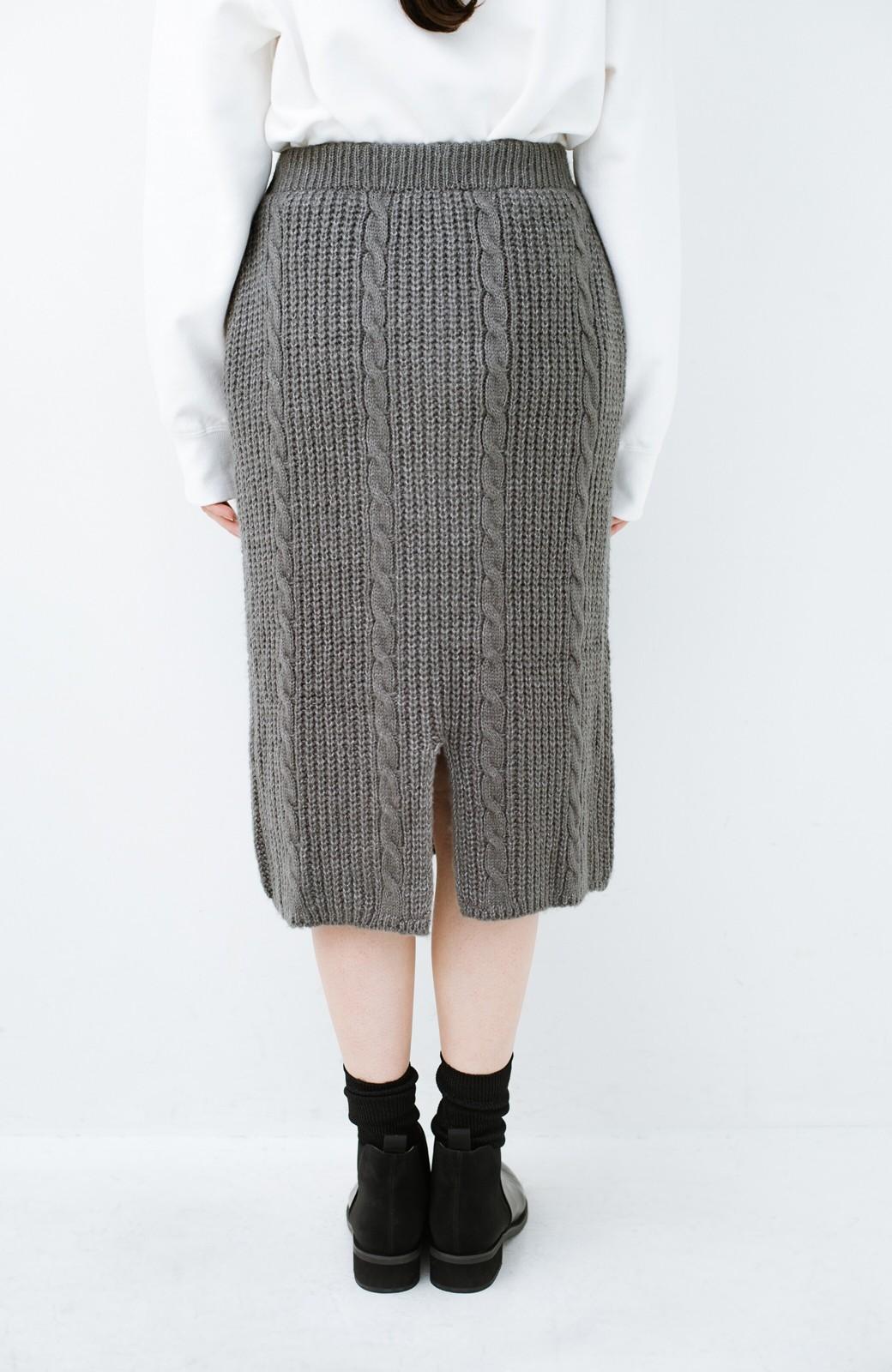 haco! しまった!寝坊した!ってときにも安心なケーブル編みがかわいいニットアップ <グレー>の商品写真31