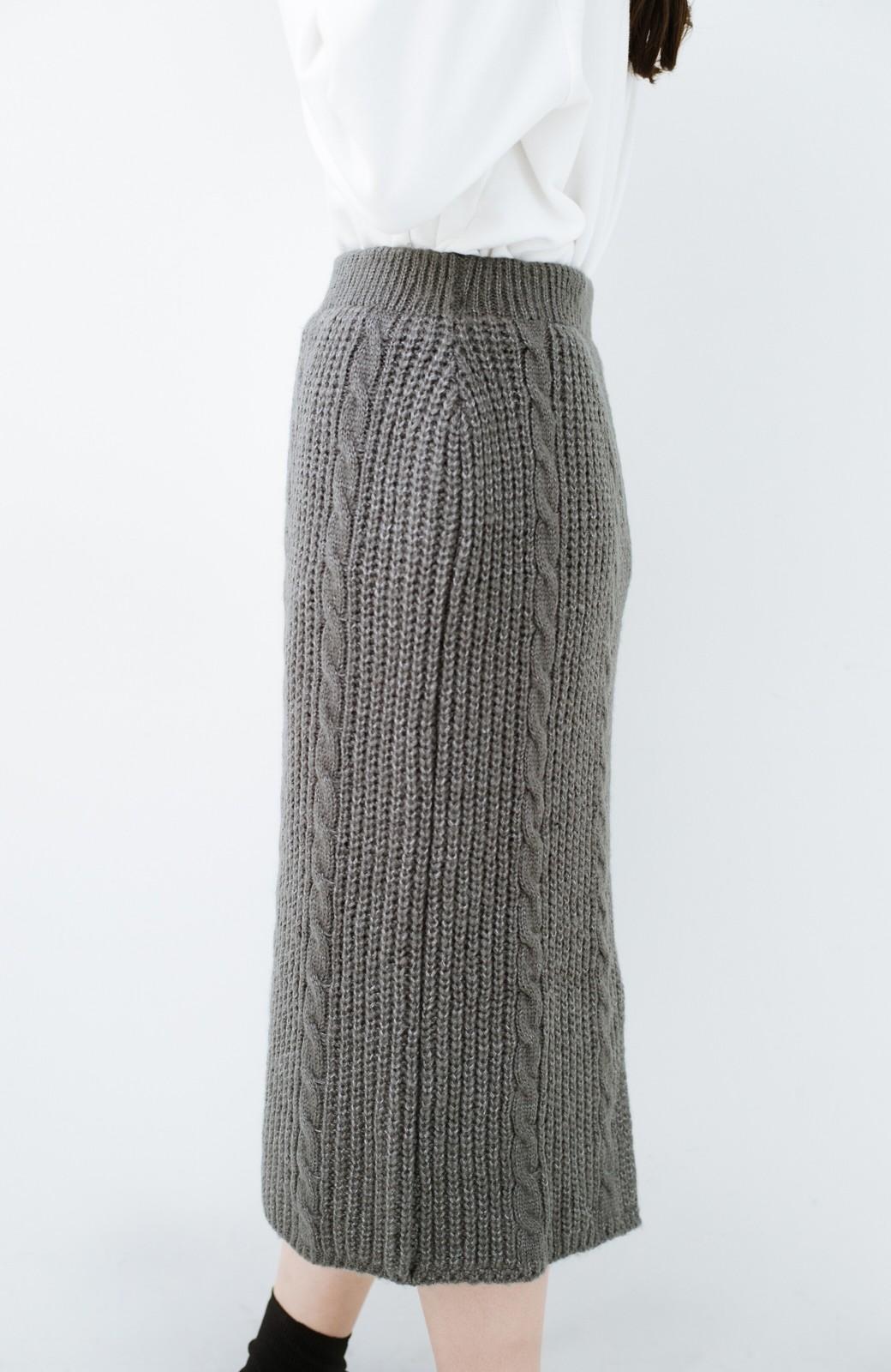 haco! しまった!寝坊した!ってときにも安心なケーブル編みがかわいいニットアップ <グレー>の商品写真32