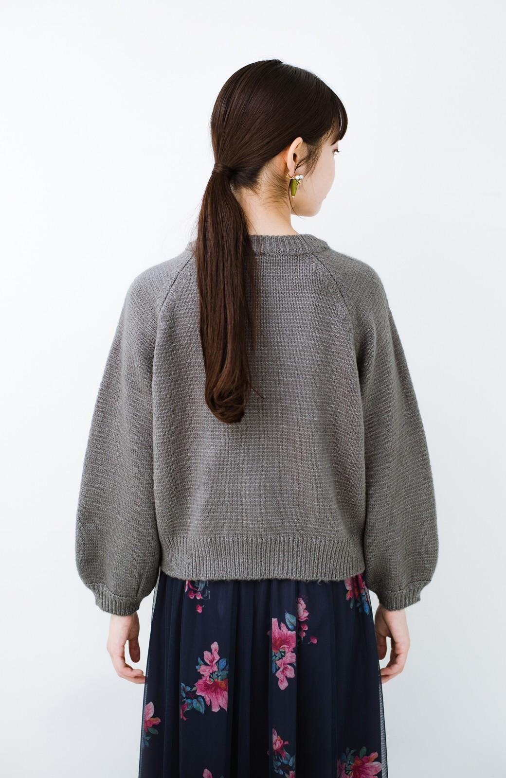 haco! しまった!寝坊した!ってときにも安心なケーブル編みがかわいいニットアップ <グレー>の商品写真25