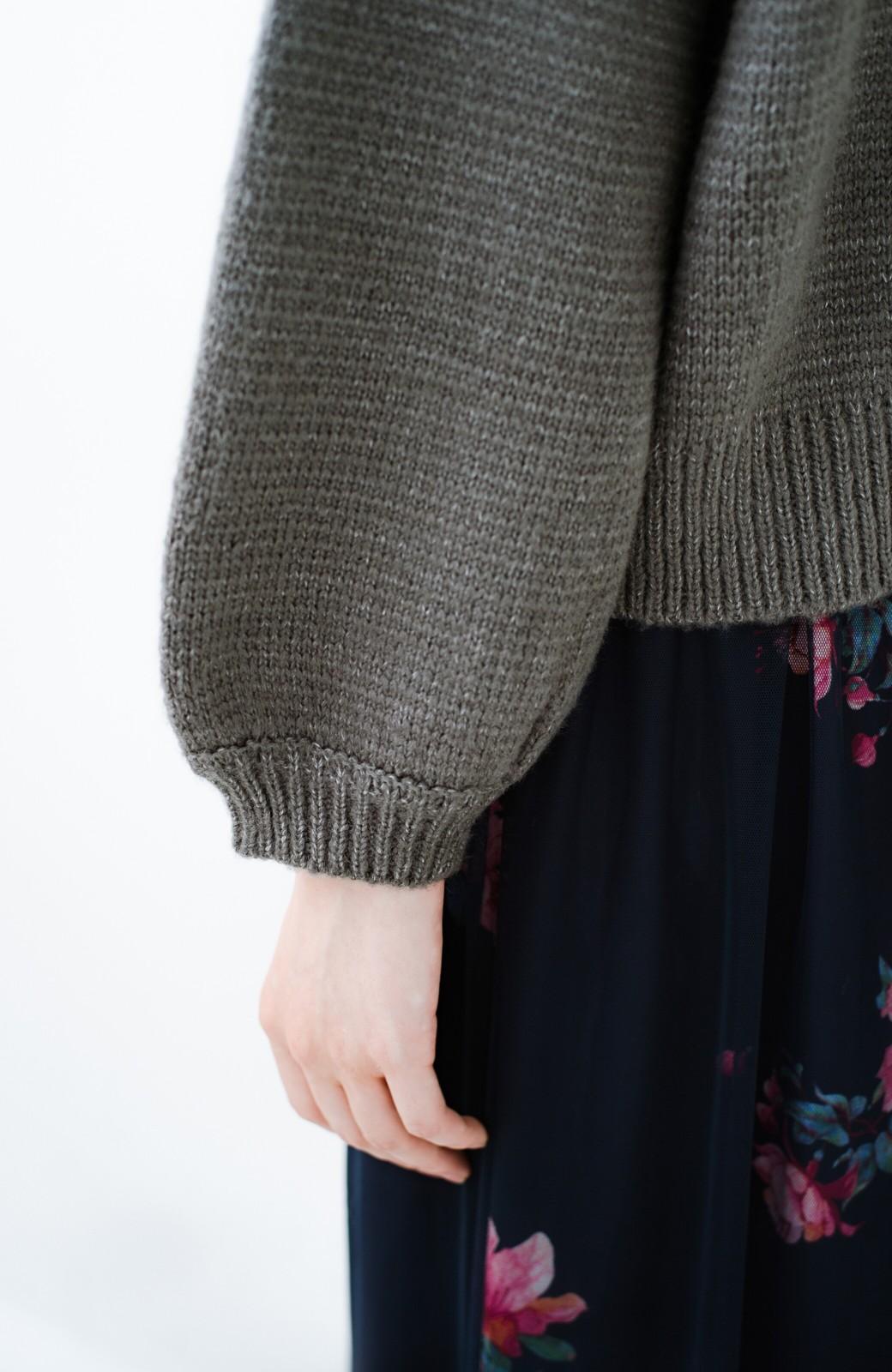 haco! しまった!寝坊した!ってときにも安心なケーブル編みがかわいいニットアップ <グレー>の商品写真26
