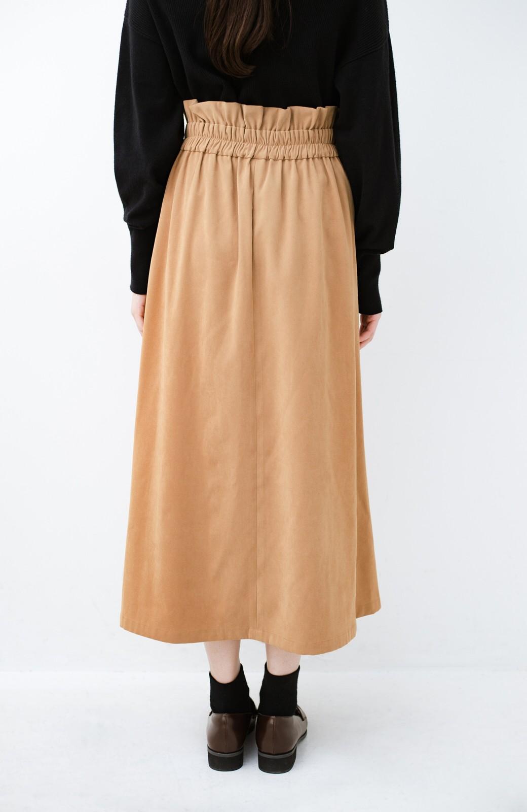 haco! 楽ちんなのにきれい見せが叶う ボタンがポイントの大人スカート <ベージュ>の商品写真8