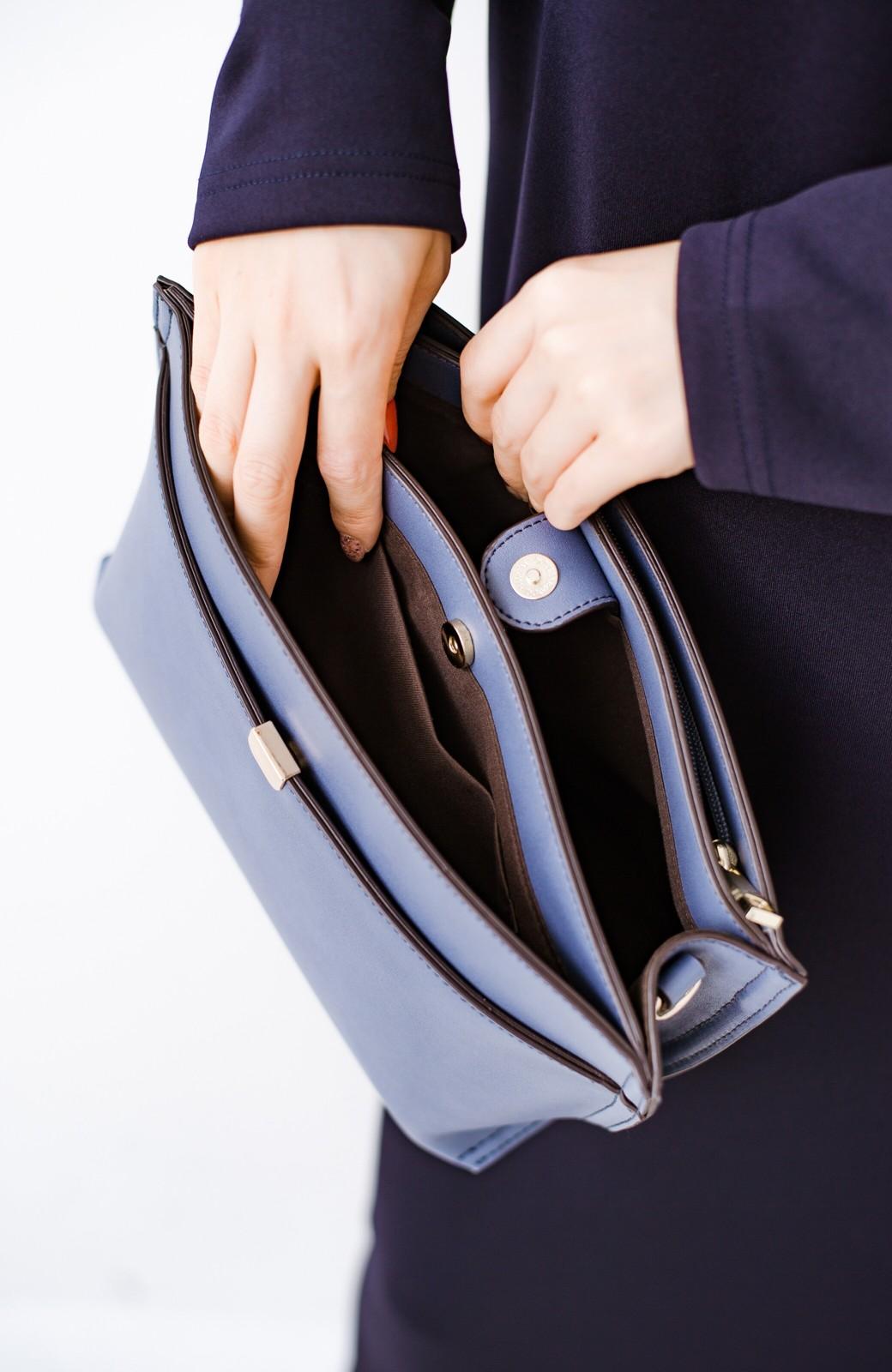 haco! 結婚式や二次会にも普段使いにも 実用的な5ポケット2WAYショルダーバッグ <ブルー>の商品写真6