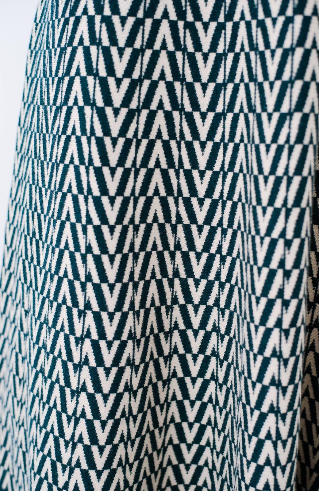 haco! シンプルトップスと合わせるだけでコーデがオシャレ&華やかになる ジャカードニットスカート <グリーン系その他>の商品写真8