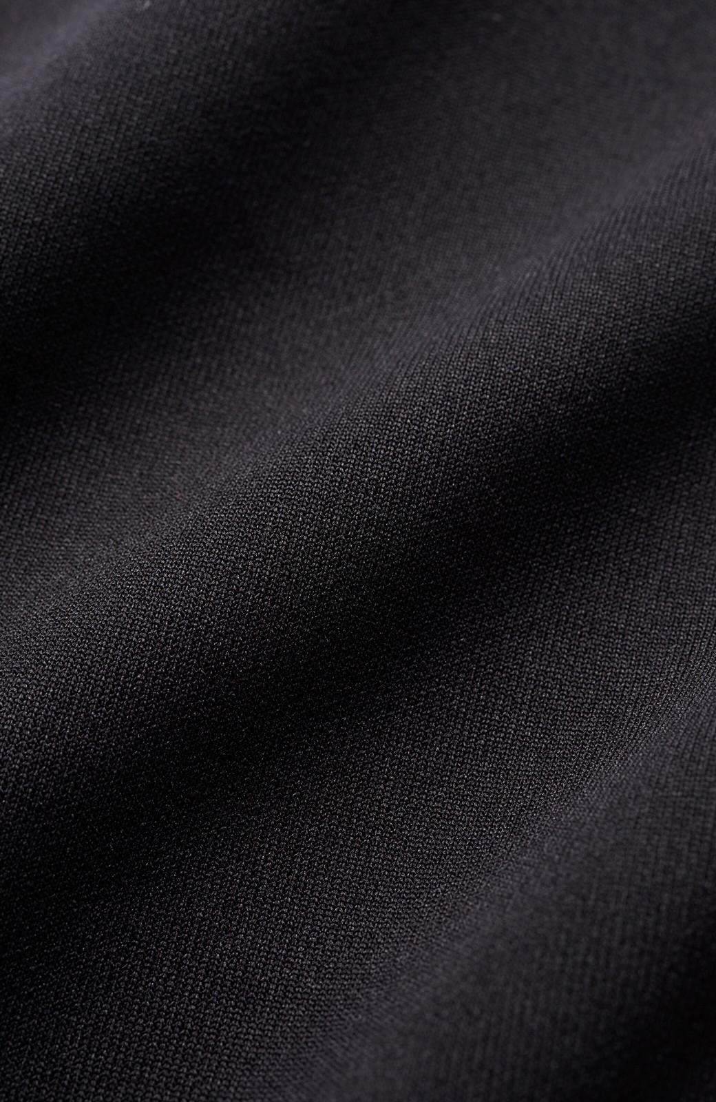 haco! 前はシンプルで着やすい&後ろ姿は最高にかわいい プリーツスウェットワンピース <ブラック>の商品写真4