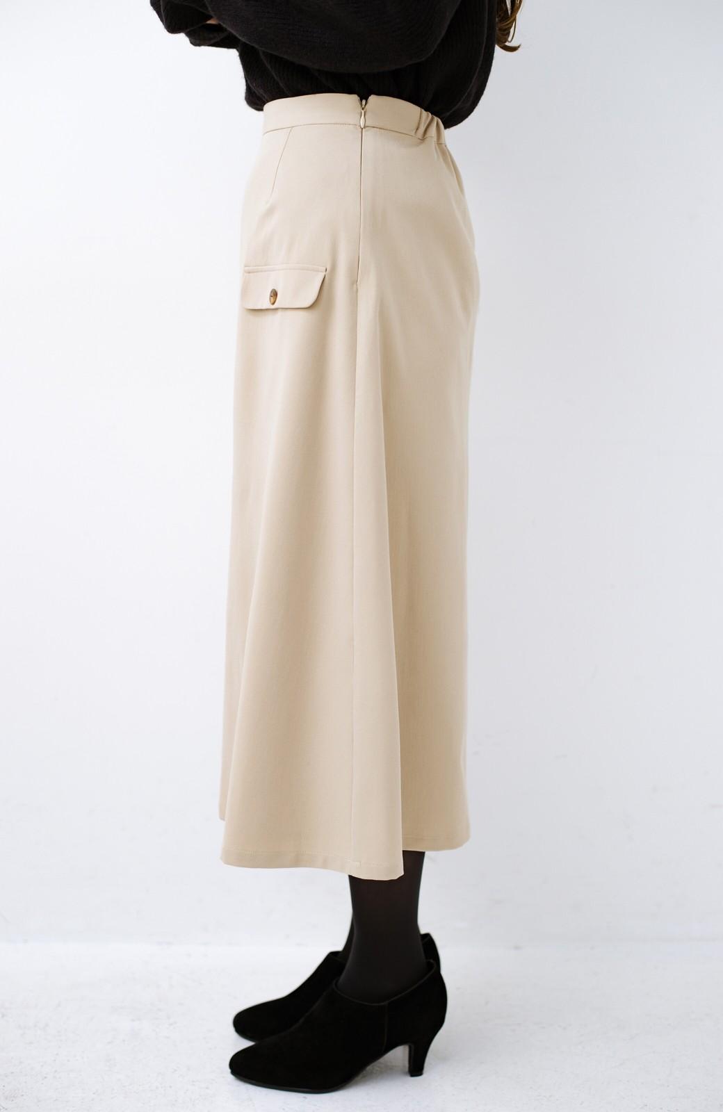 haco! オフィスにもデートにもぴったりなきれいシルエットのAラインスカート <ベージュ>の商品写真6