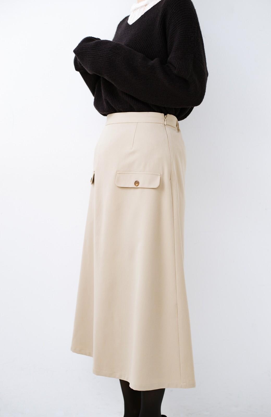 haco! オフィスにもデートにもぴったりなきれいシルエットのAラインスカート <ベージュ>の商品写真5