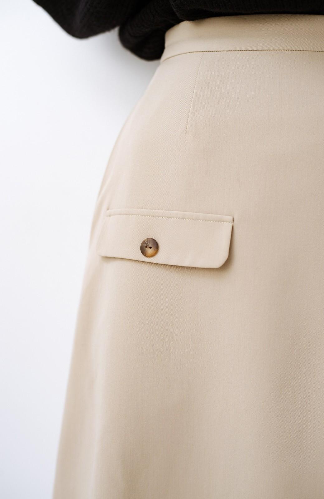 haco! オフィスにもデートにもぴったりなきれいシルエットのAラインスカート <ベージュ>の商品写真8