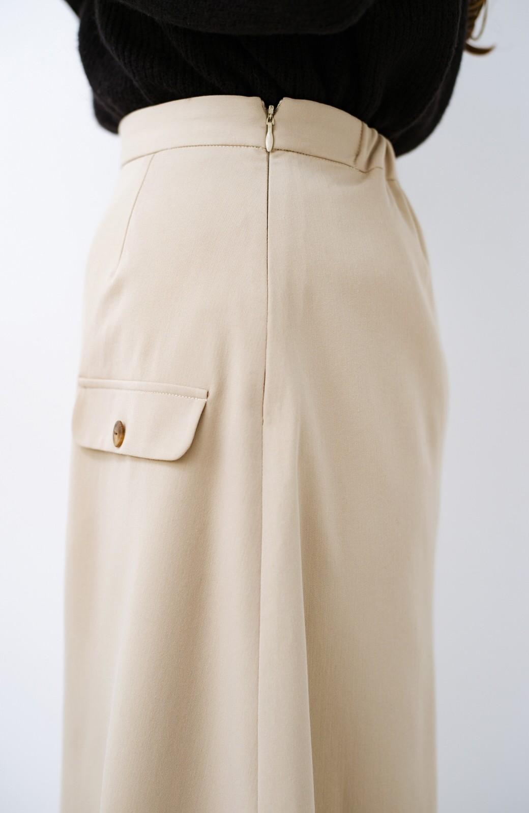 haco! オフィスにもデートにもぴったりなきれいシルエットのAラインスカート <ベージュ>の商品写真9