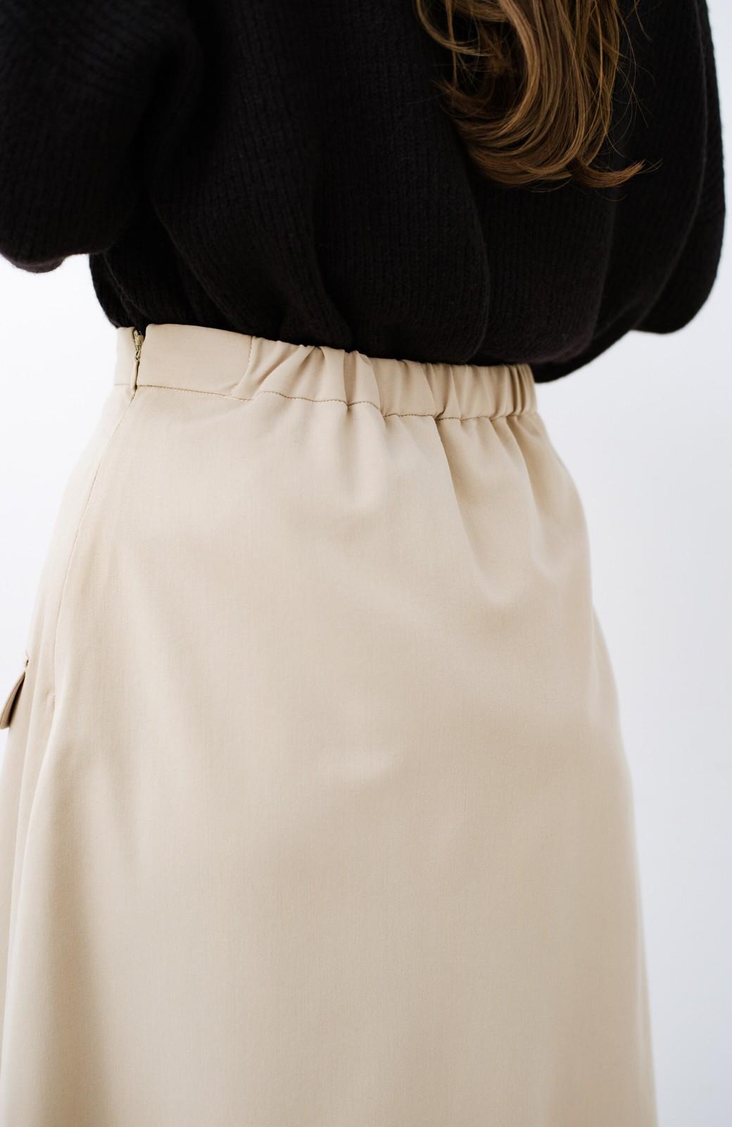 haco! オフィスにもデートにもぴったりなきれいシルエットのAラインスカート <ベージュ>の商品写真10