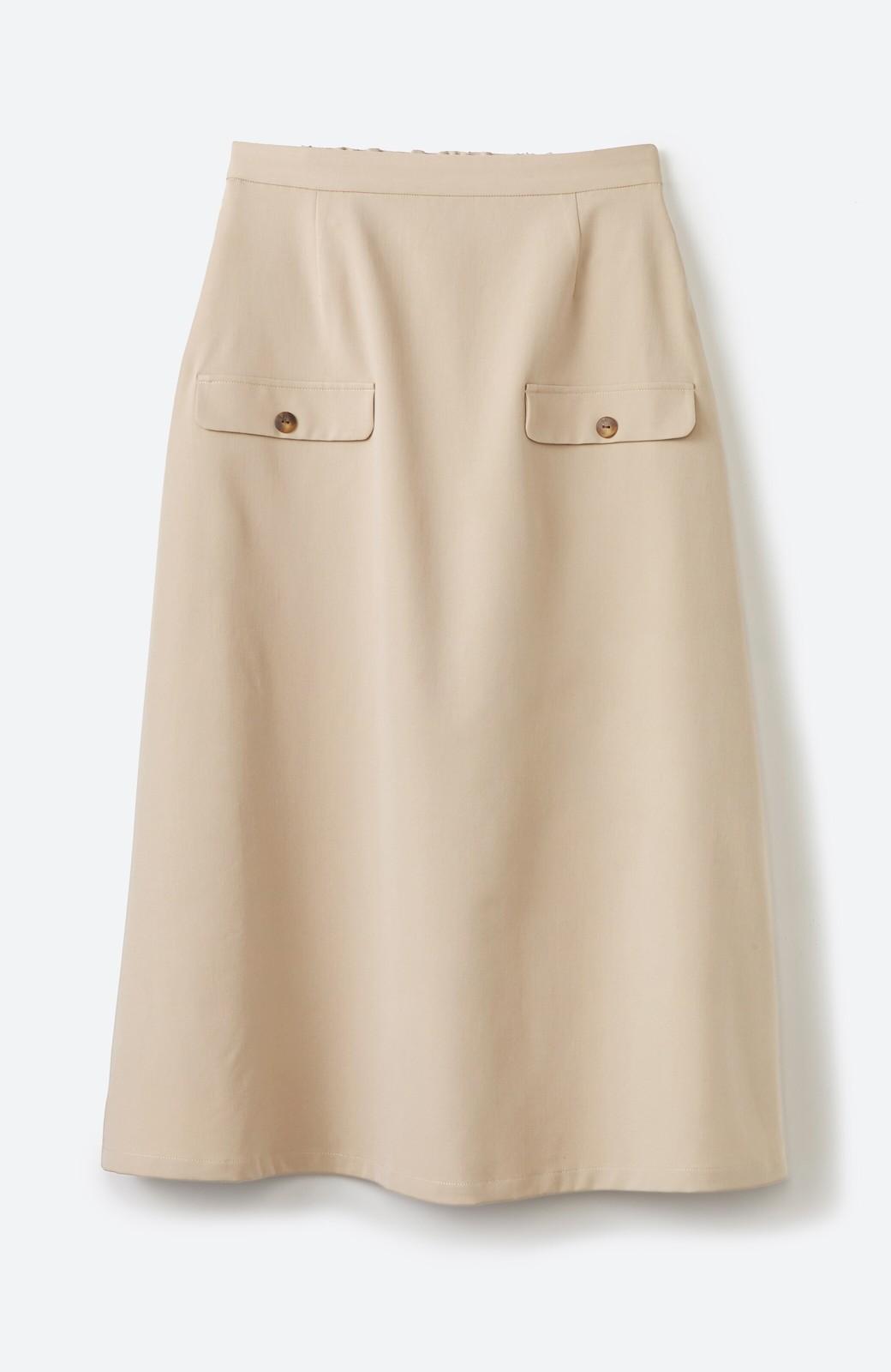 haco! オフィスにもデートにもぴったりなきれいシルエットのAラインスカート <ベージュ>の商品写真14