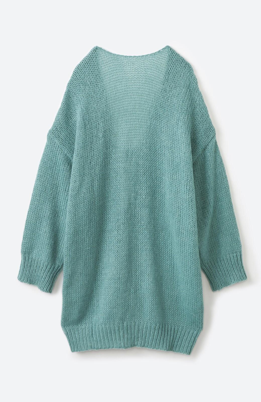 haco! ゆるゆるゆる編みで軽やかにかわいくなれる 前後ろ2WAYカーディガン <ミント>の商品写真19
