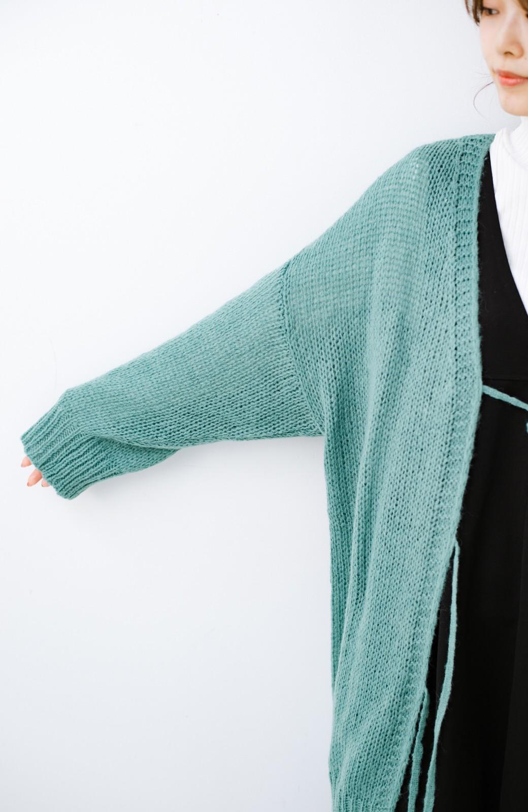 haco! ゆるゆるゆる編みで軽やかにかわいくなれる 前後ろ2WAYカーディガン <ミント>の商品写真10