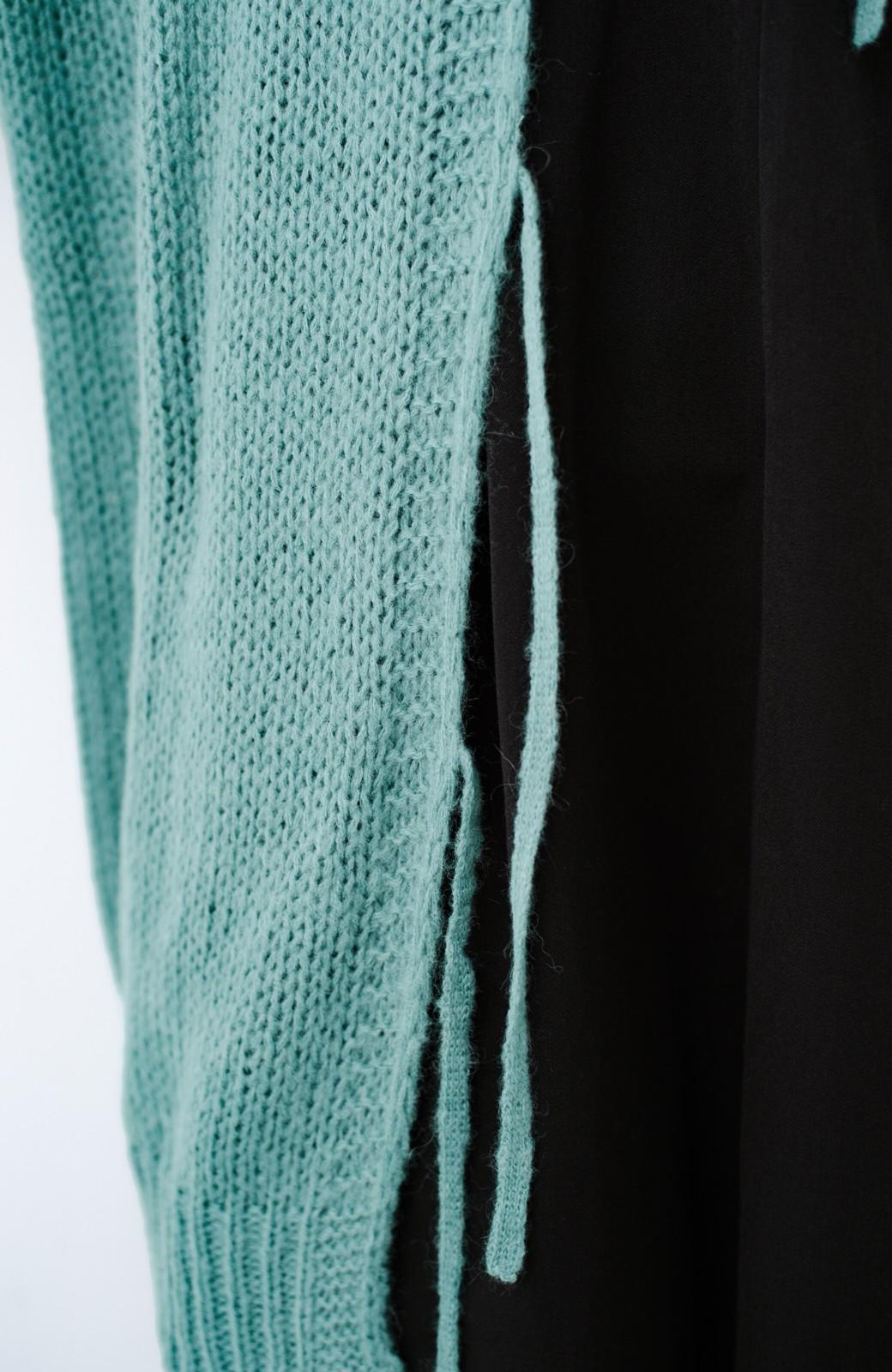 haco! ゆるゆるゆる編みで軽やかにかわいくなれる 前後ろ2WAYカーディガン <ミント>の商品写真12