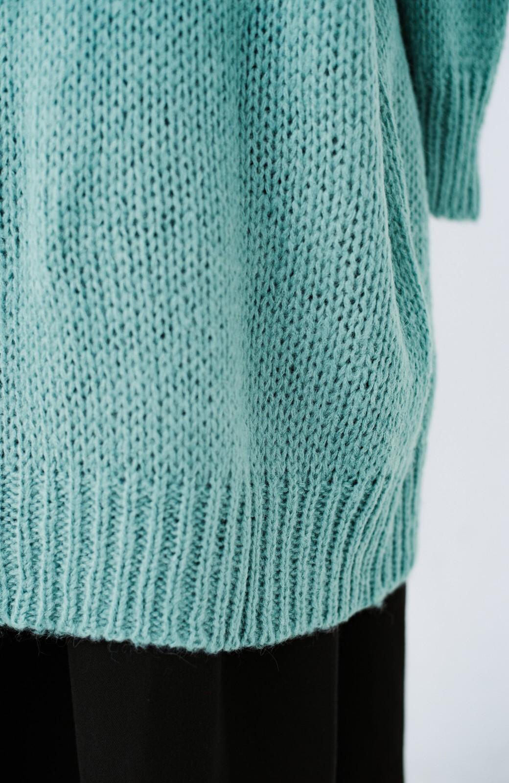 haco! ゆるゆるゆる編みで軽やかにかわいくなれる 前後ろ2WAYカーディガン <ミント>の商品写真13
