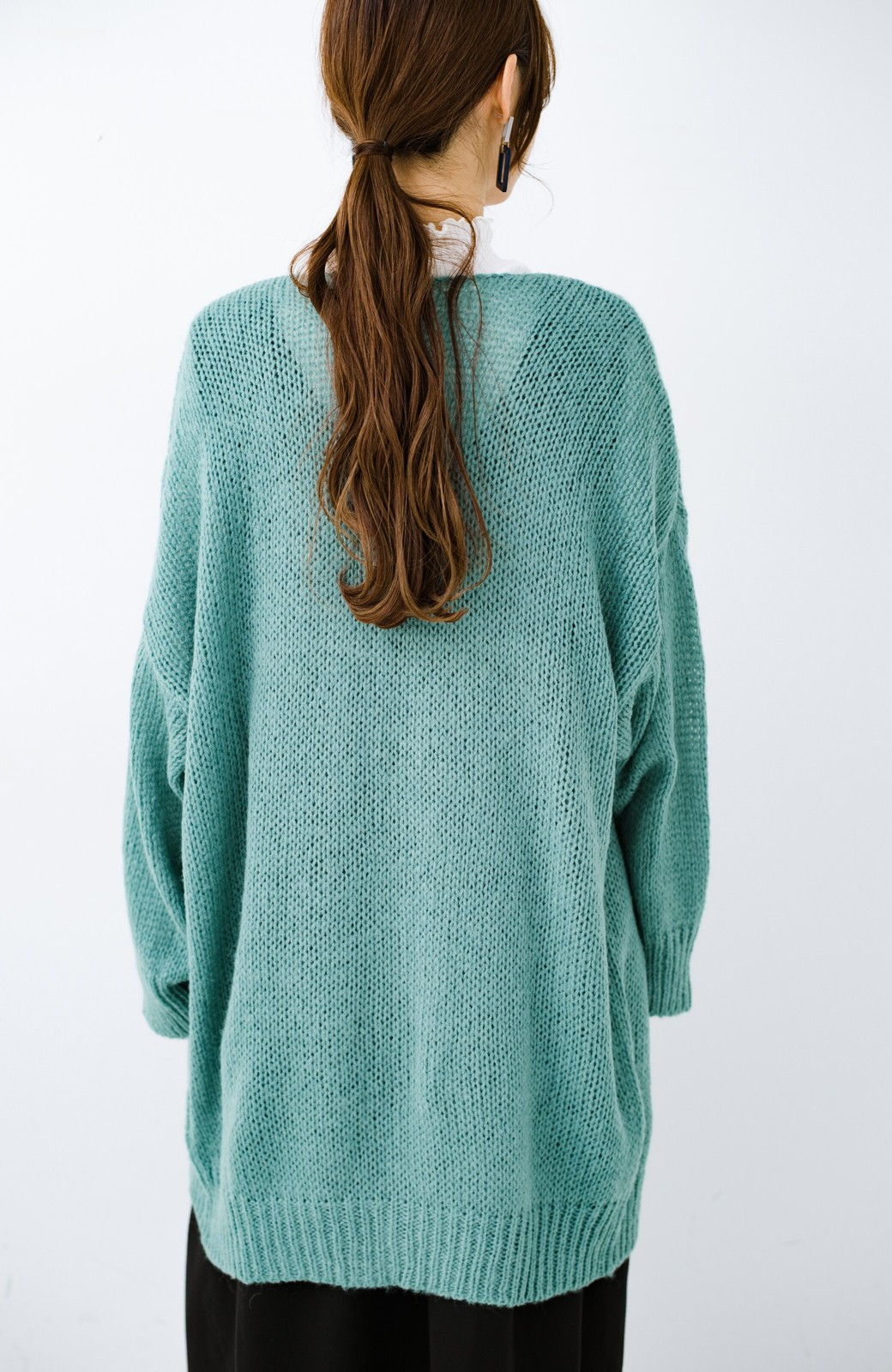 haco! ゆるゆるゆる編みで軽やかにかわいくなれる 前後ろ2WAYカーディガン <ミント>の商品写真17
