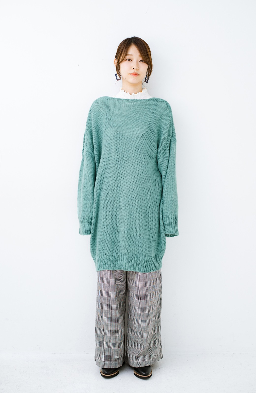 haco! ゆるゆるゆる編みで軽やかにかわいくなれる 前後ろ2WAYカーディガン <ミント>の商品写真9