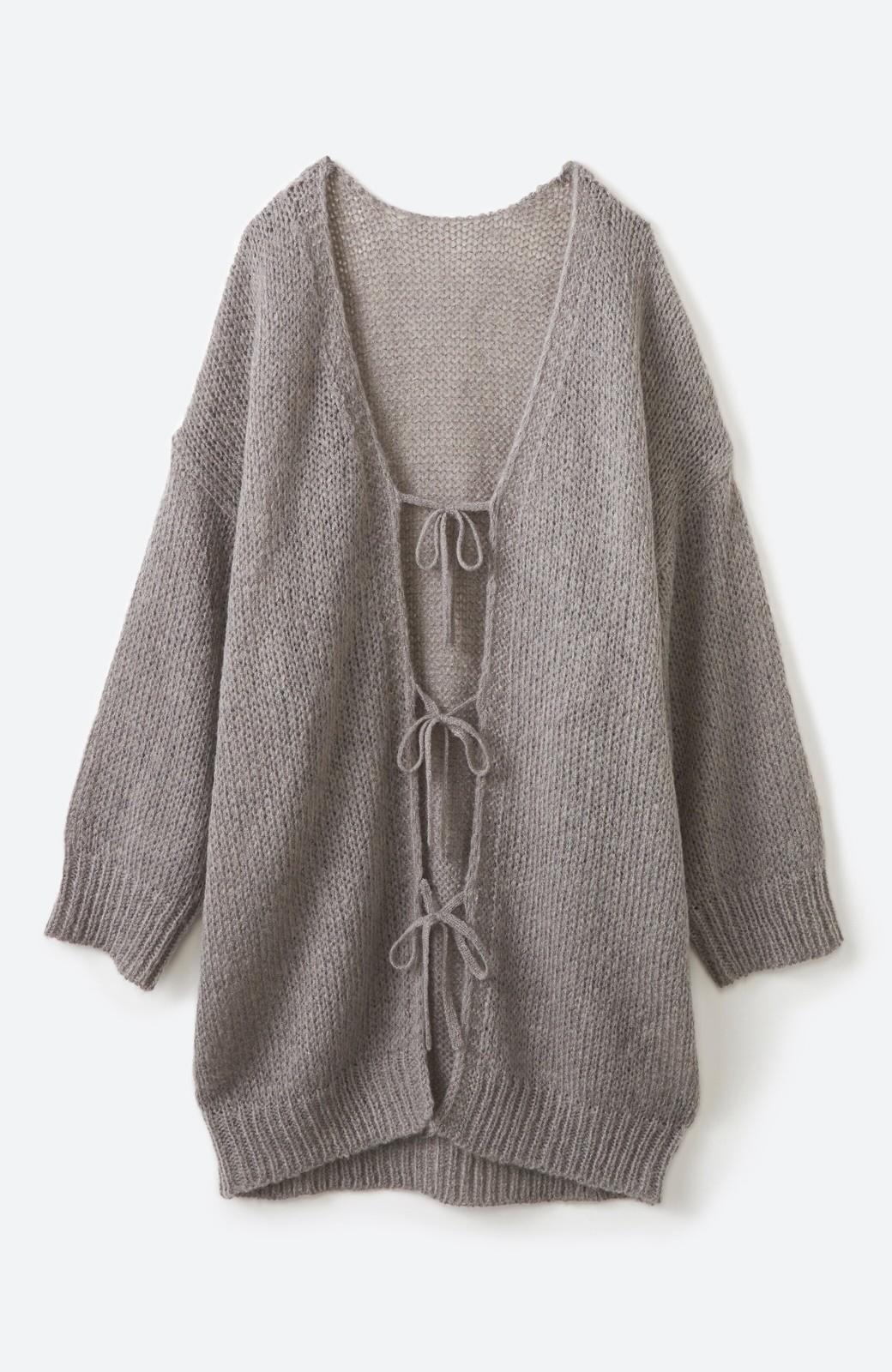 haco! ゆるゆるゆる編みで軽やかにかわいくなれる 前後ろ2WAYカーディガン <杢グレー>の商品写真24