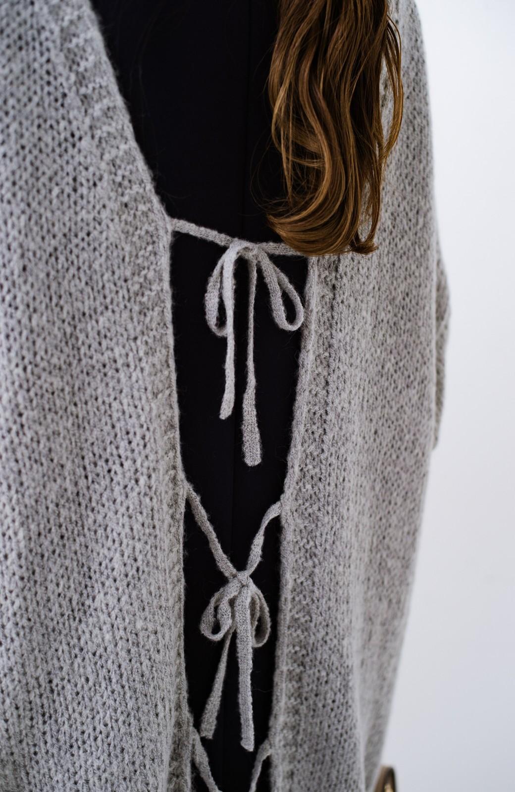 haco! ゆるゆるゆる編みで軽やかにかわいくなれる 前後ろ2WAYカーディガン <杢グレー>の商品写真23