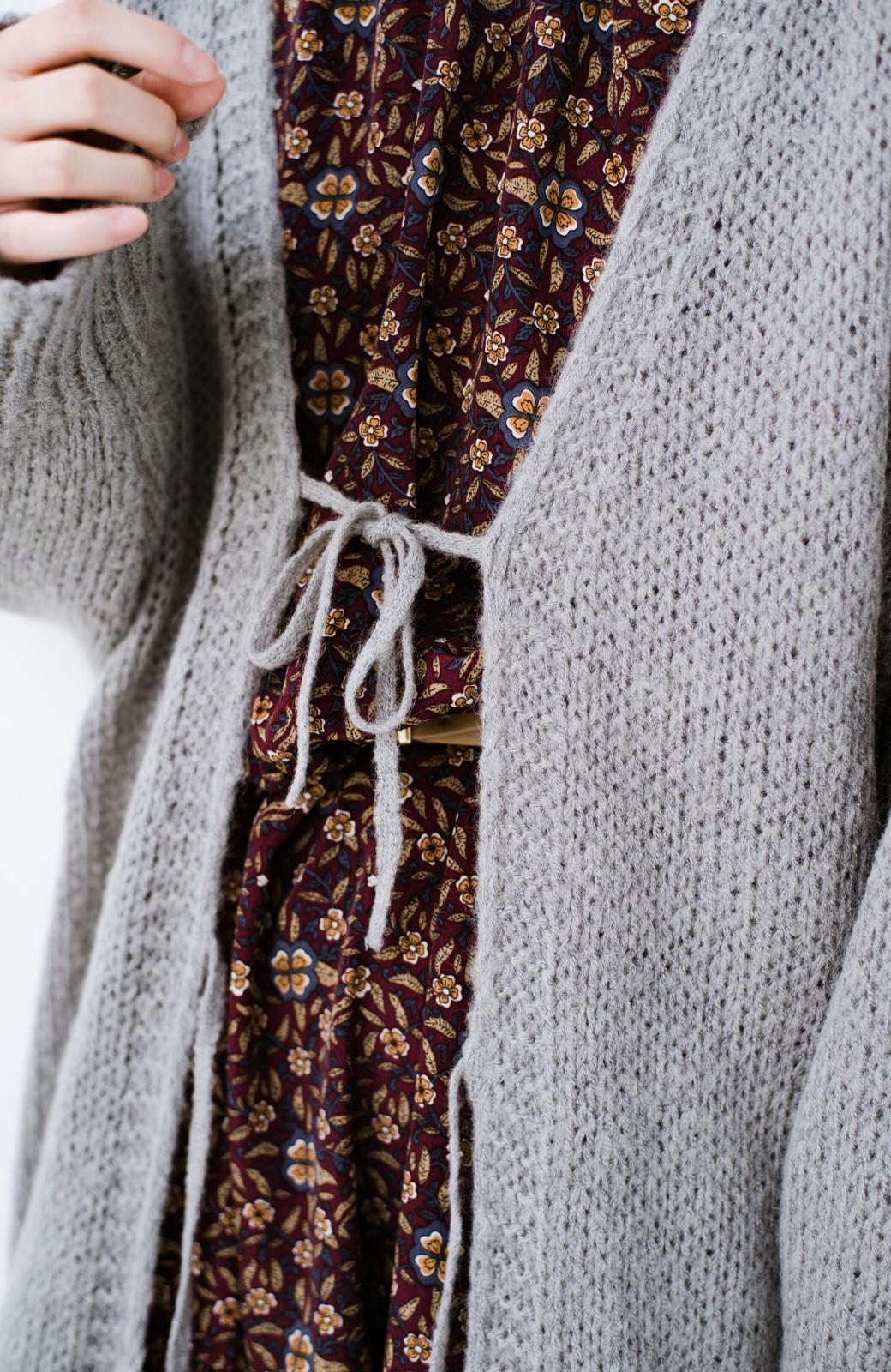 haco! ゆるゆるゆる編みで軽やかにかわいくなれる 前後ろ2WAYカーディガン <杢グレー>の商品写真16