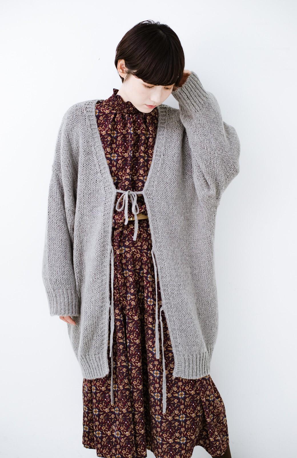 haco! ゆるゆるゆる編みで軽やかにかわいくなれる 前後ろ2WAYカーディガン <杢グレー>の商品写真18
