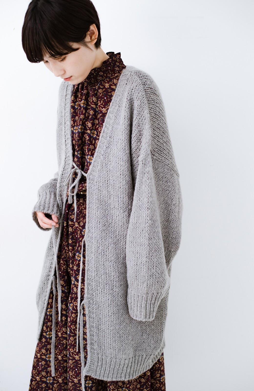 haco! ゆるゆるゆる編みで軽やかにかわいくなれる 前後ろ2WAYカーディガン <杢グレー>の商品写真19