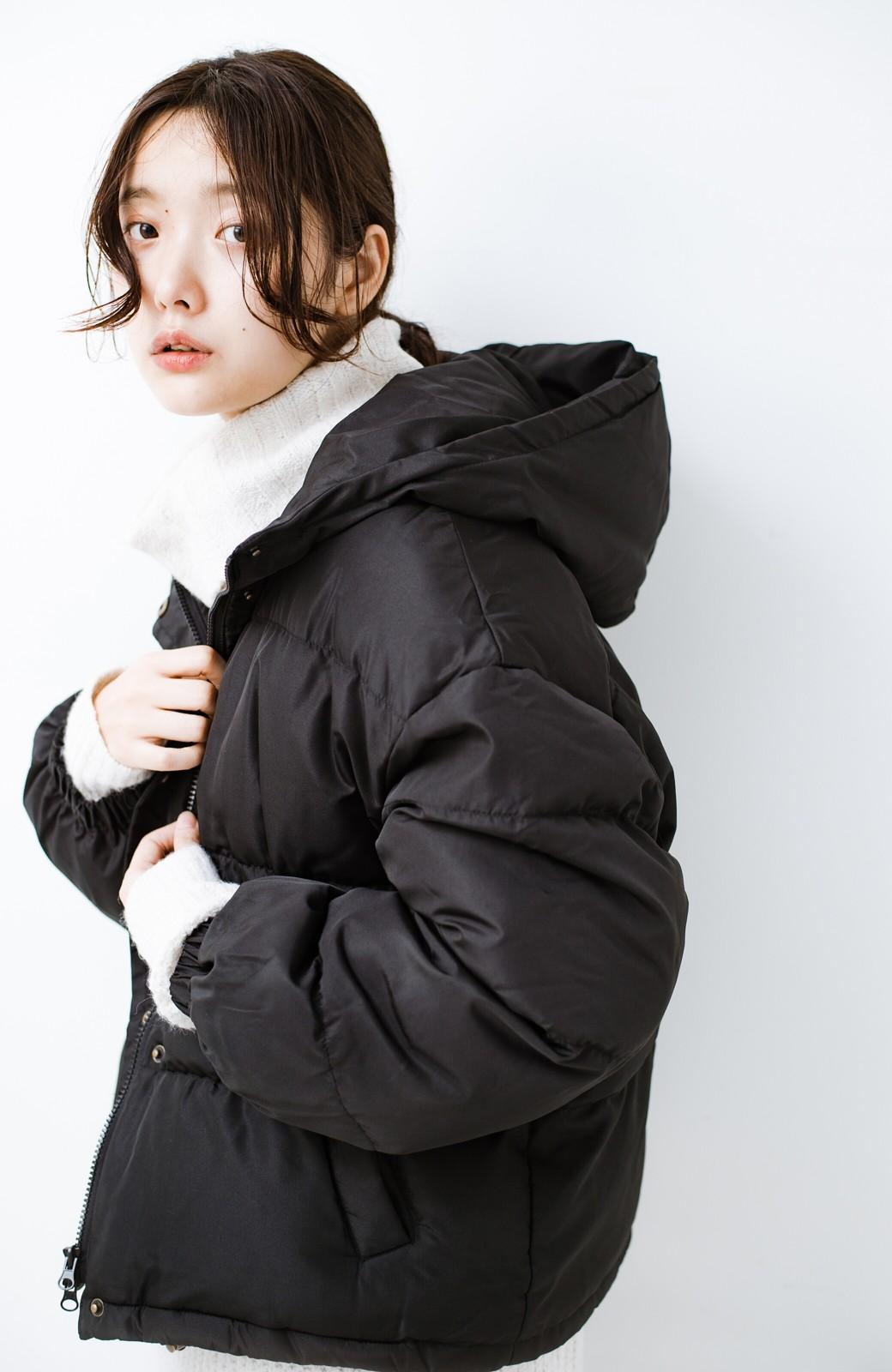 haco! 軽くてあったか!そのうえ短め丈でバランスよく見える中綿コート by ZAMPA <ブラック>の商品写真1