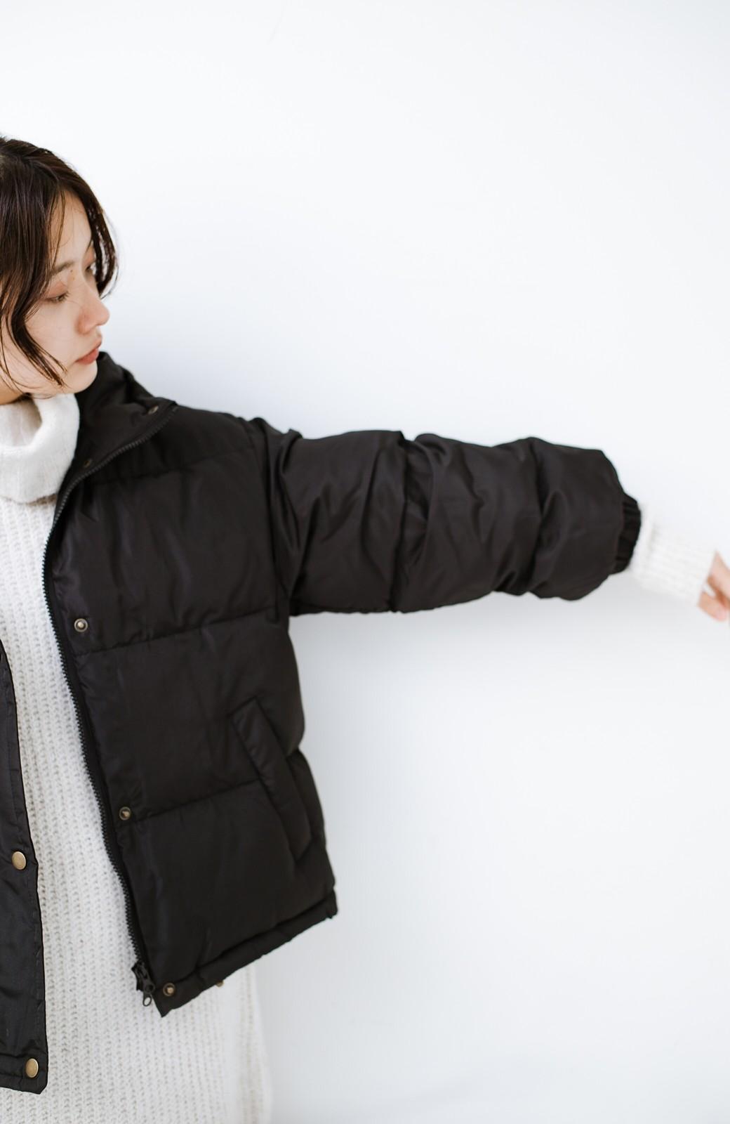 haco! 軽くてあったか!そのうえ短め丈でバランスよく見える中綿コート by ZAMPA <ブラック>の商品写真5
