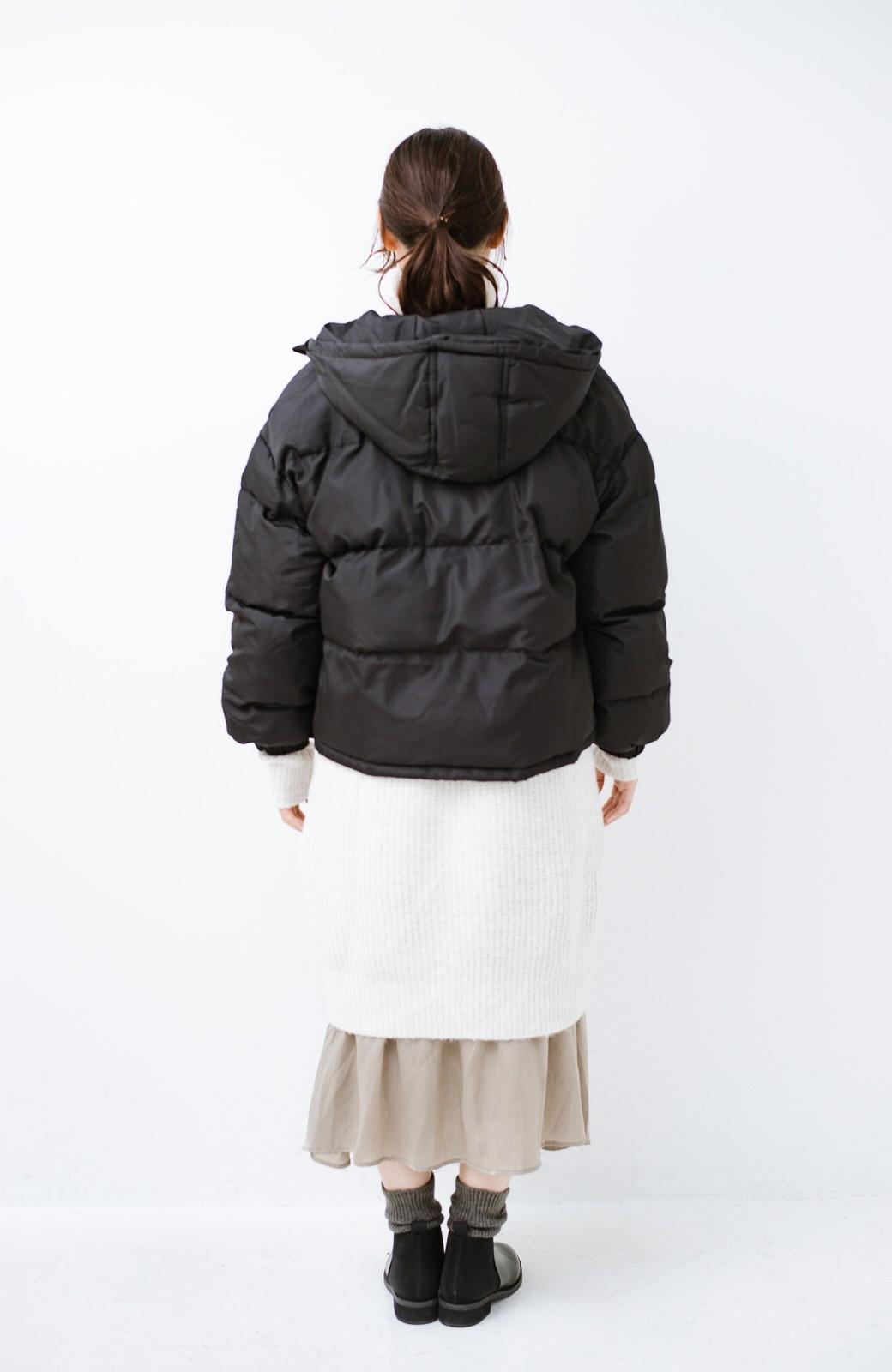 haco! 軽くてあったか!そのうえ短め丈でバランスよく見える中綿コート by ZAMPA <ブラック>の商品写真11