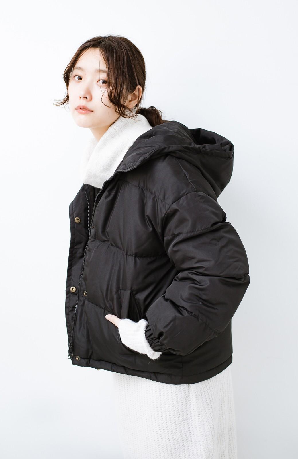 haco! 軽くてあったか!そのうえ短め丈でバランスよく見える中綿コート by ZAMPA <ブラック>の商品写真13