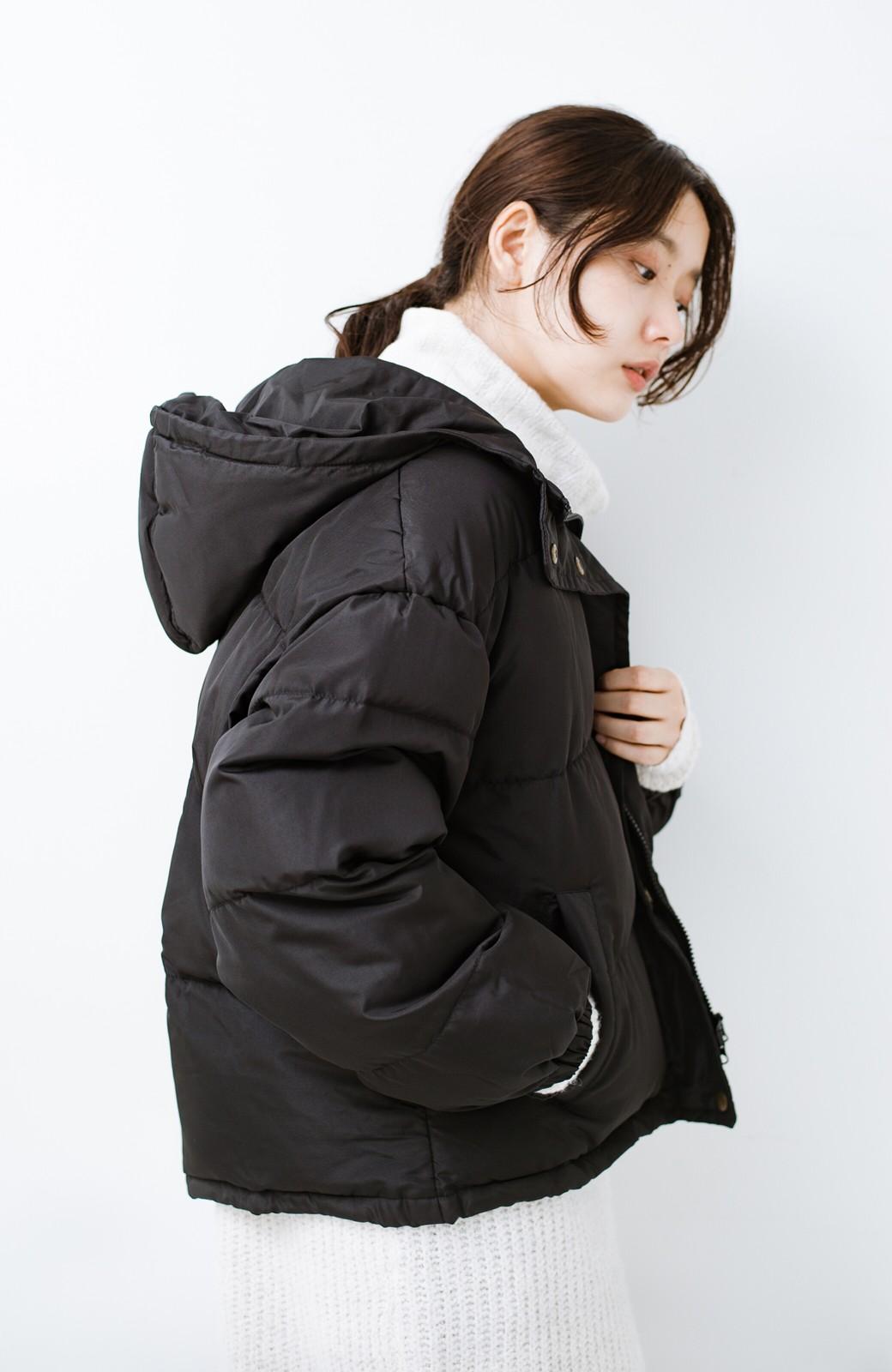 haco! 軽くてあったか!そのうえ短め丈でバランスよく見える中綿コート by ZAMPA <ブラック>の商品写真14
