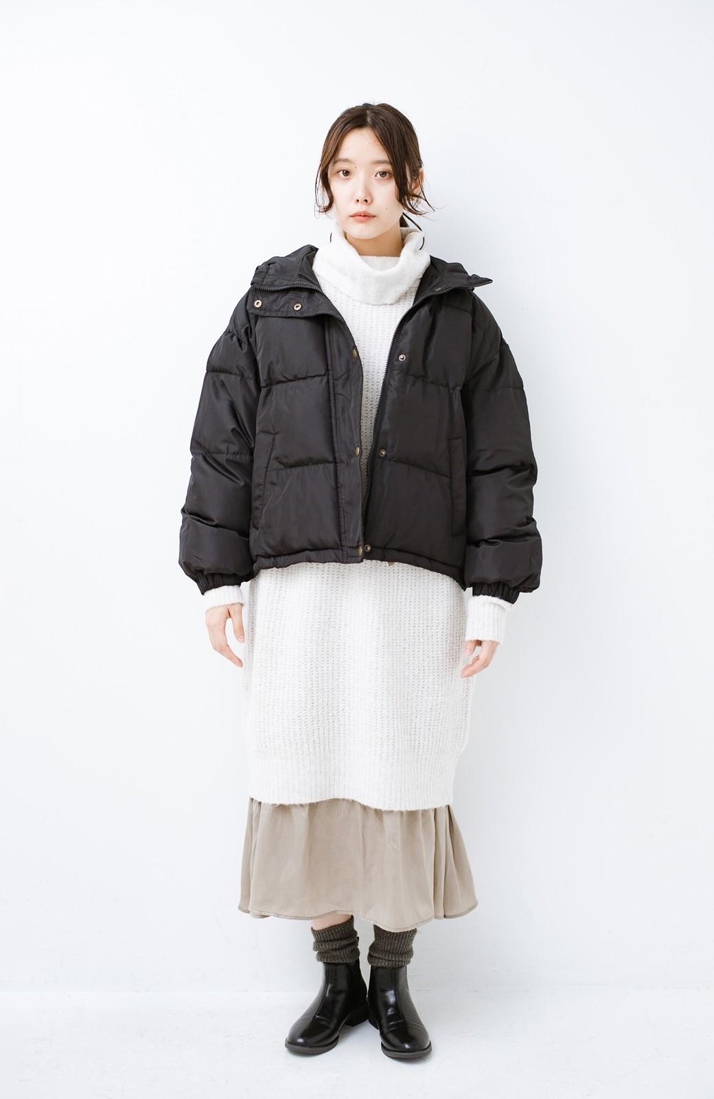 haco! 軽くてあったか!そのうえ短め丈でバランスよく見える中綿コート by ZAMPA <ブラック>の商品写真6