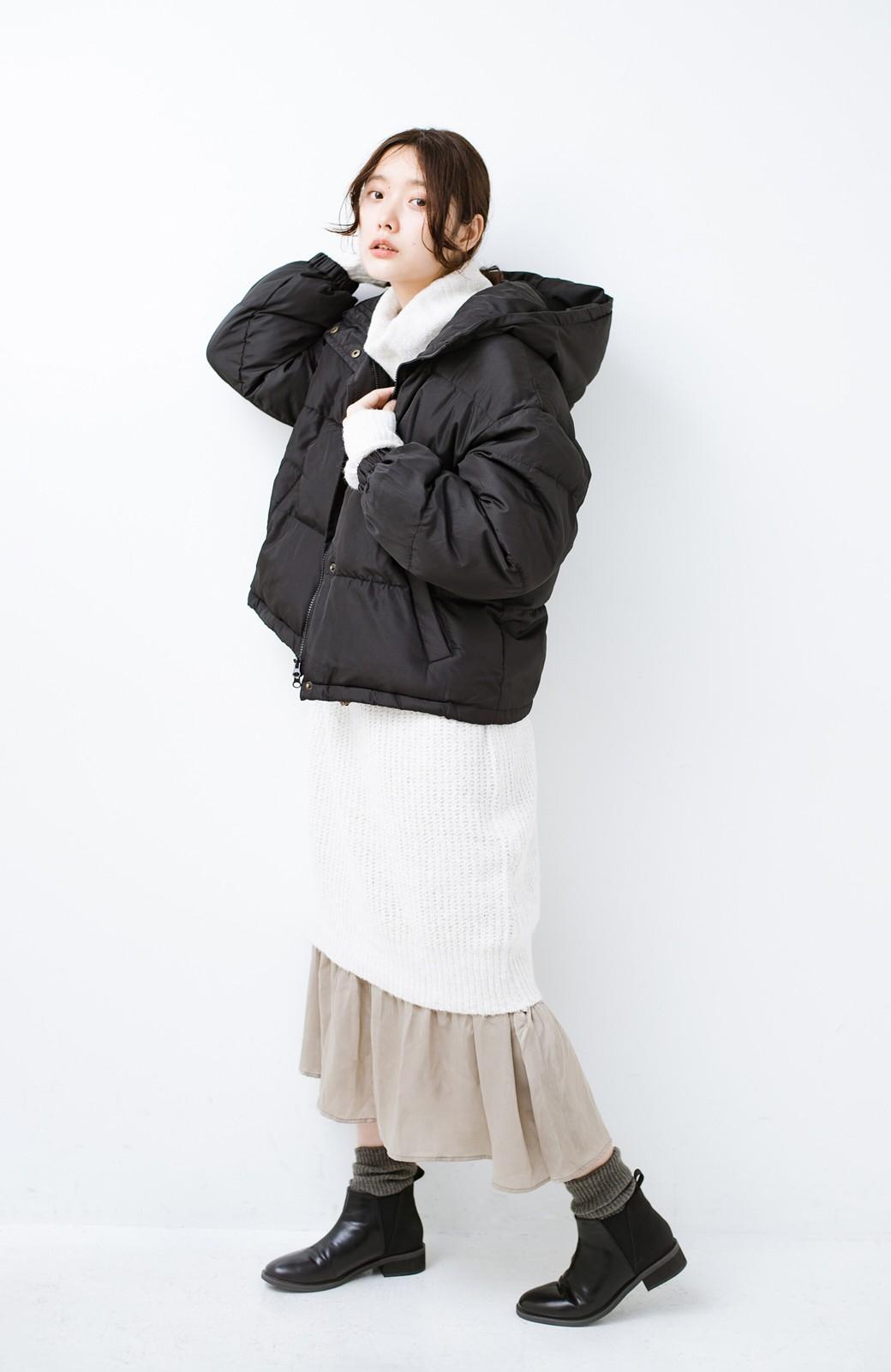 haco! 軽くてあったか!そのうえ短め丈でバランスよく見える中綿コート by ZAMPA <ブラック>の商品写真9