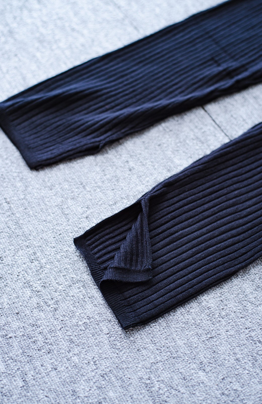 haco! あったか&オシャレに重ね着できる 便利なリブニットレギンス by style zampa <ブラック>の商品写真3