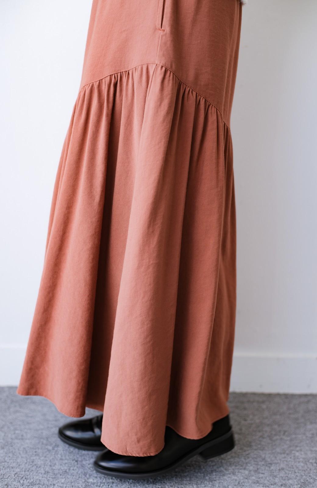 haco! ふんわりシルエットが華やかな大人ギャザースカート <スモークピンク>の商品写真7