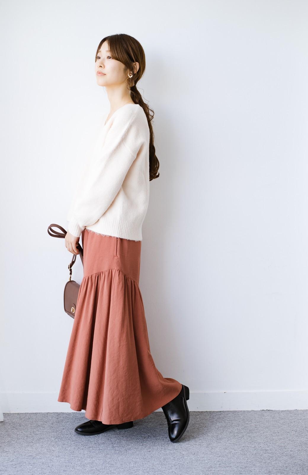 haco! ふんわりシルエットが華やかな大人ギャザースカート <スモークピンク>の商品写真10