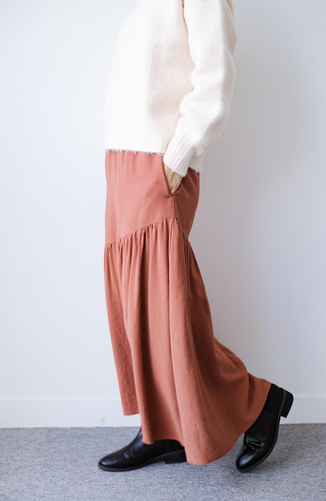 haco! ふんわりシルエットが華やかな大人ギャザースカート <スモークピンク>の商品写真11