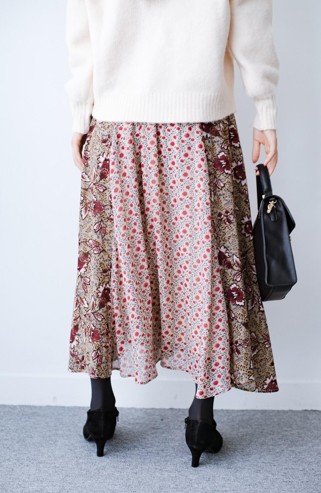 haco! 【洗濯機洗いOK】シンプルなトップスに合わせるだけでかわいくなれる MIX柄スカート <ベージュ系その他>の商品写真5
