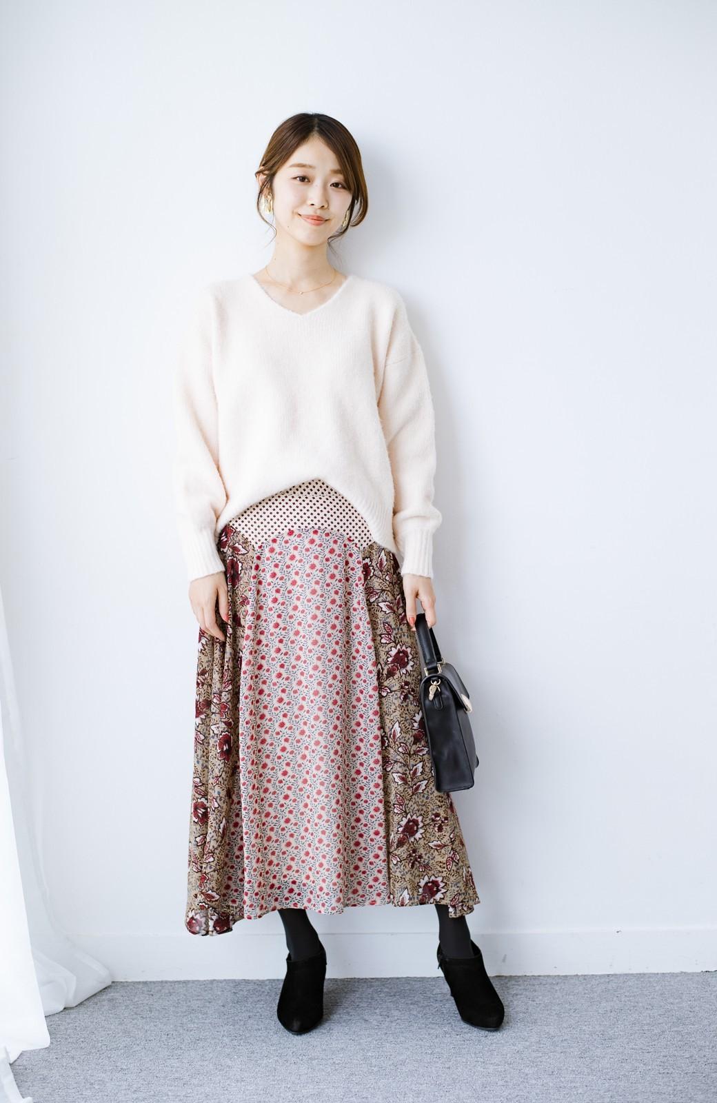 haco! 【洗濯機洗いOK】シンプルなトップスに合わせるだけでかわいくなれる MIX柄スカート <ベージュ系その他>の商品写真17