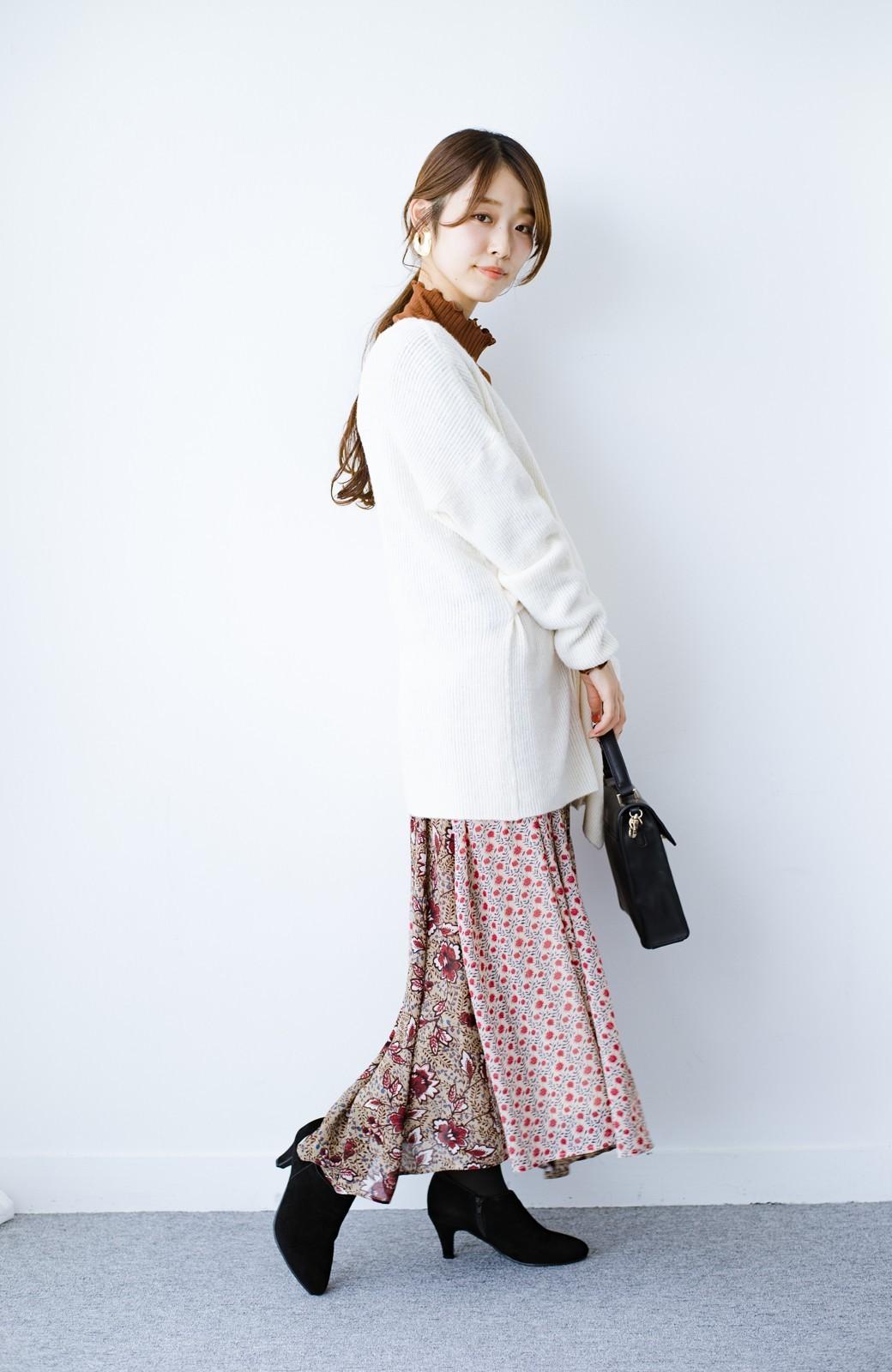 haco! 【洗濯機洗いOK】シンプルなトップスに合わせるだけでかわいくなれる MIX柄スカート <ベージュ系その他>の商品写真7