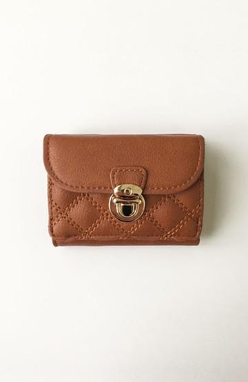 haco! Legato Largo キルティング 三つ折りミニ財布 <キャメル>の商品写真