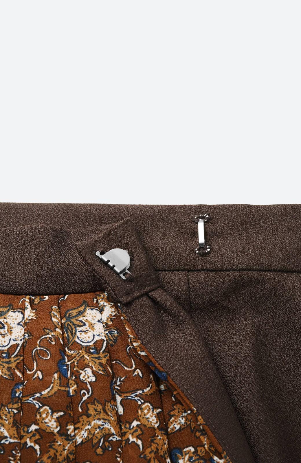 haco! 【背が小さい党】丈もウエストもぴったりサイズ!背が小さくたってすらーっと見えるプリーツスカート <ブラウン系その他>の商品写真4