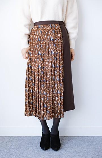 haco! 【背が小さい党】丈もウエストもぴったりサイズ!背が小さくたってすらーっと見えるプリーツスカート <ブラウン系その他>の商品写真