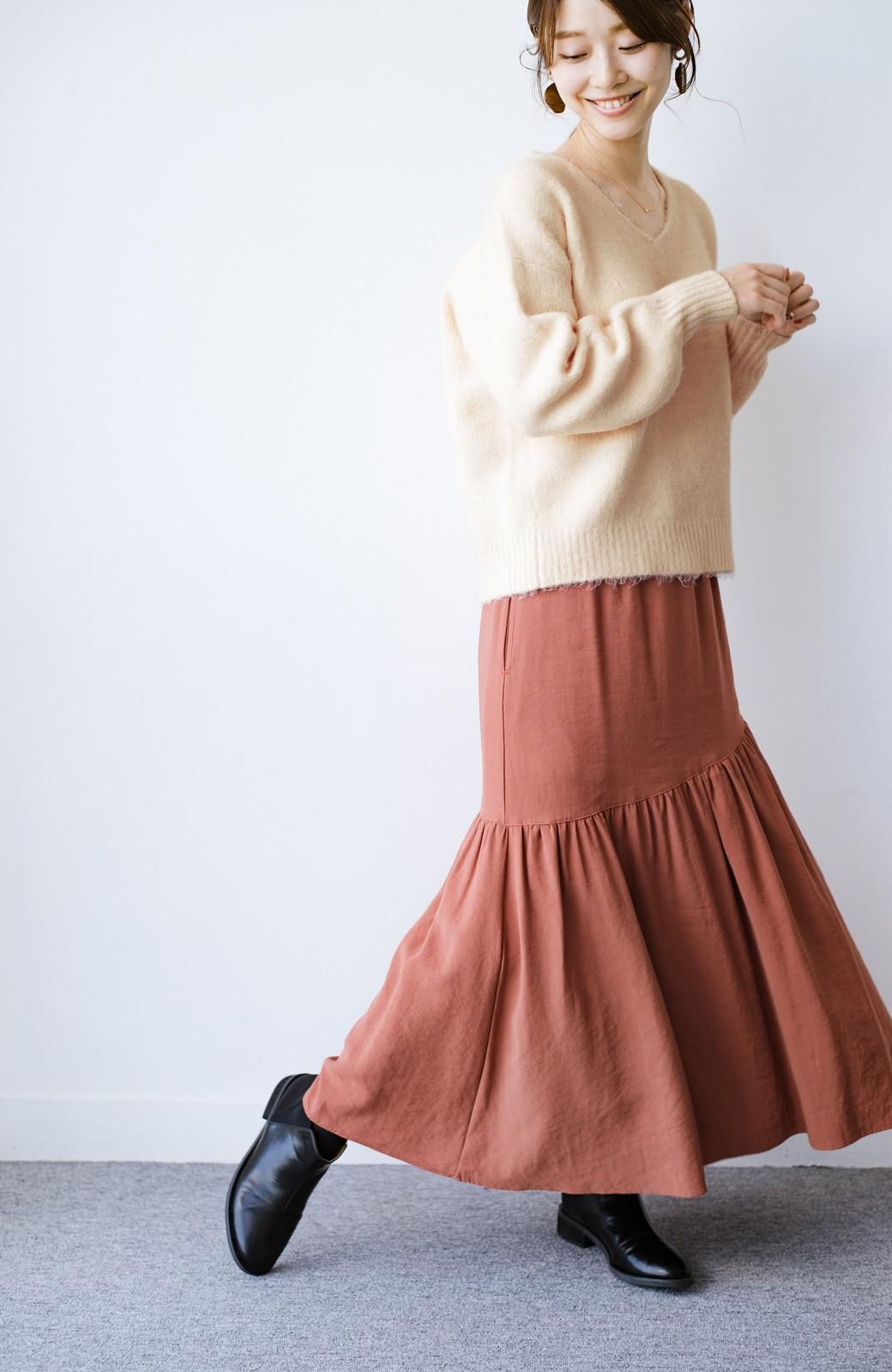 haco! 【加齢党】これで女らしさを取り戻す!パッと着るだけでほどよくちょっとだけ女っぽなVネックニット <アイボリー>の商品写真17