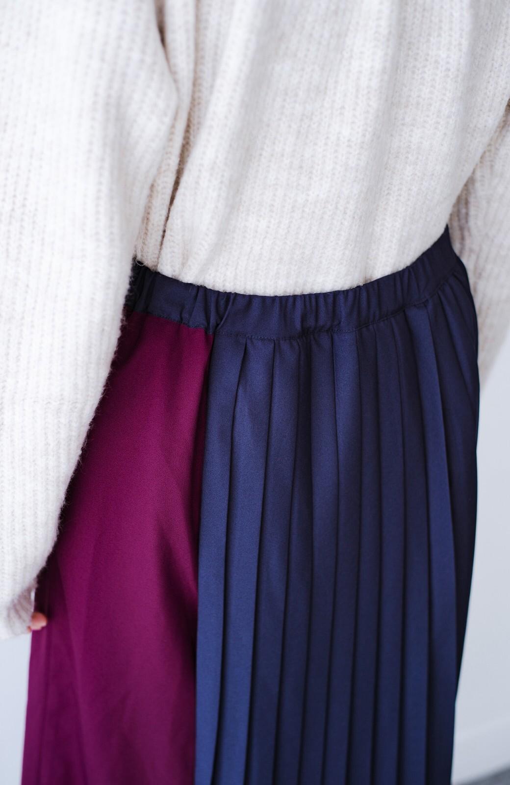 haco! 【背が小さい党】丈もウエストもぴったりサイズ!背が小さくたってすらーっと見えるプリーツスカート <ネイビー>の商品写真14