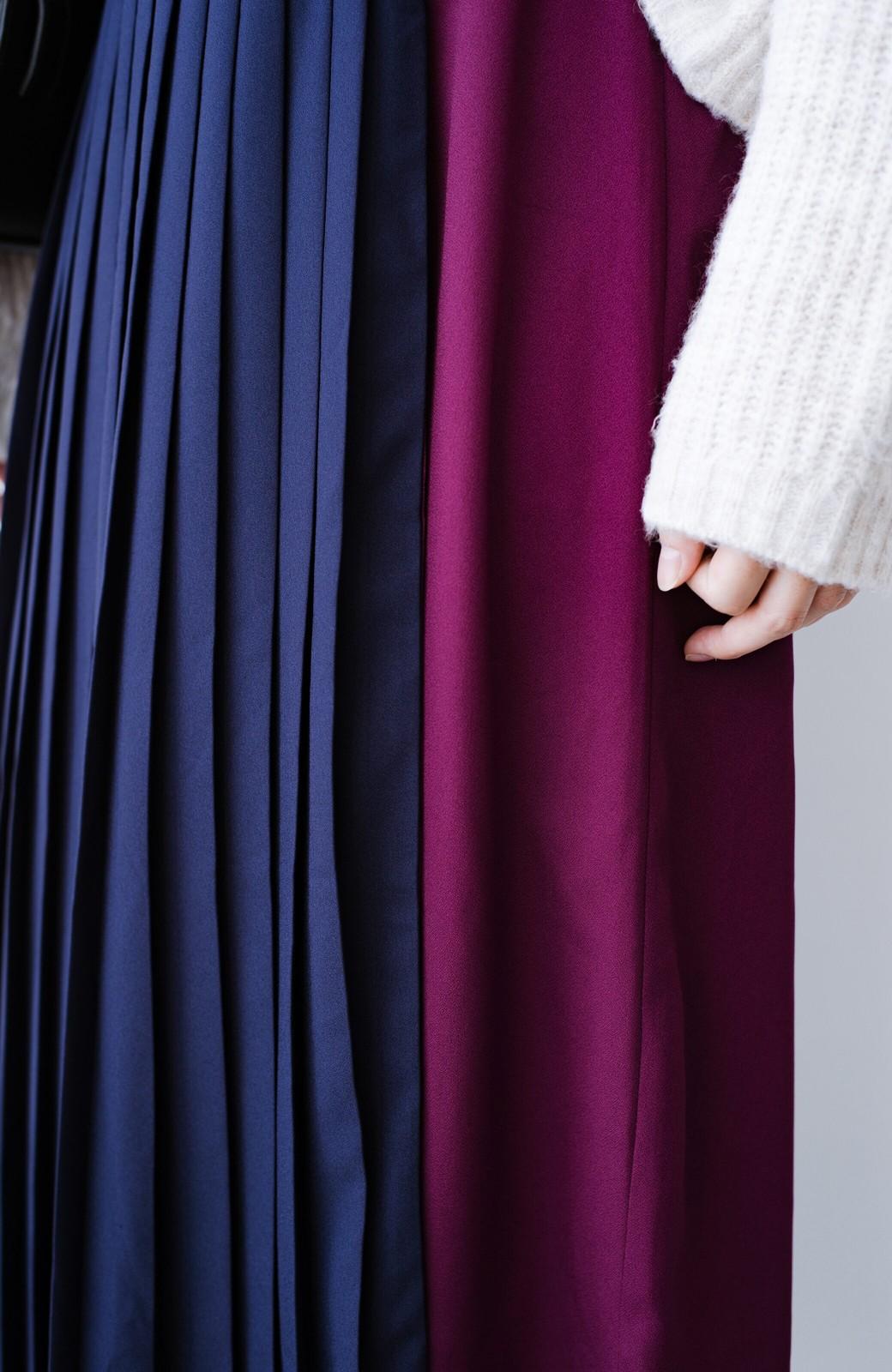 haco! 【背が小さい党】丈もウエストもぴったりサイズ!背が小さくたってすらーっと見えるプリーツスカート <ネイビー>の商品写真16